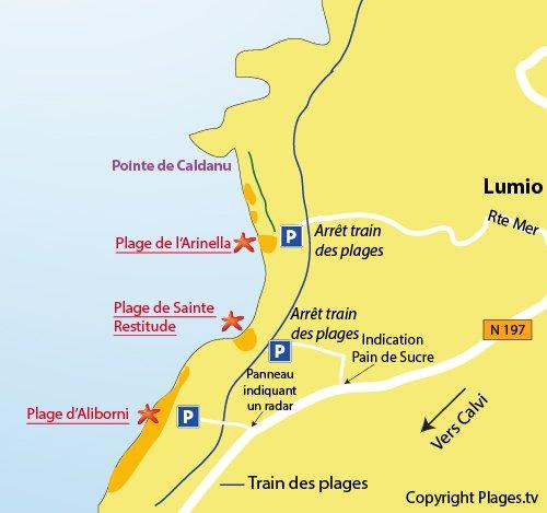 Carte Radar Corse.Aliborni Beach In Lumio Haute Corse France Plages Tv