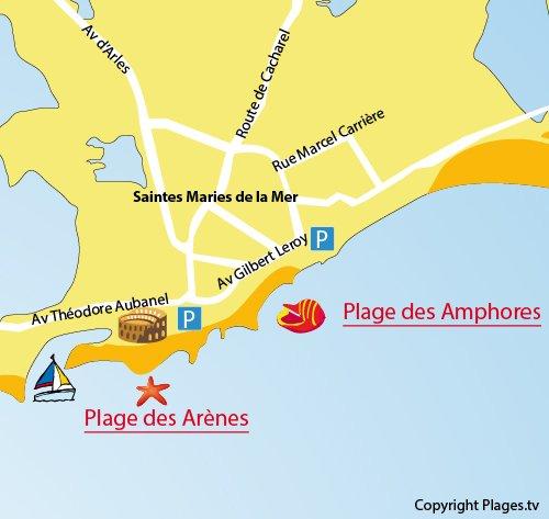 Plage des amphores saintes maries de la mer 13 bouches - Office du tourisme sainte marie la mer ...