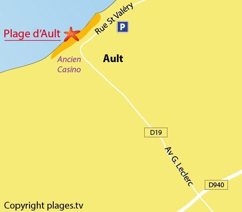 Carte de la plage d'Ault