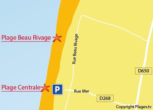 Carte de la plage Nord de Gouville sur Mer