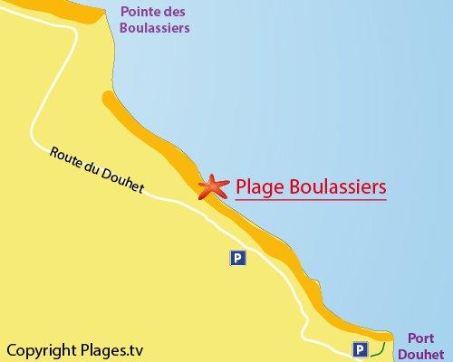 Carte de la plage de Boulassiers à Brée les Bains