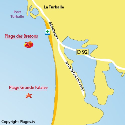 Map of Breton beach - Sheep Beach in La Turballe