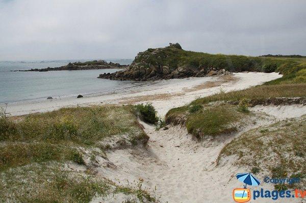 Photo de la plage du Camping sur l'ile de Batz