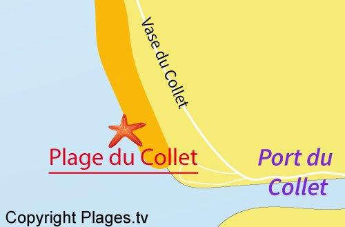 Carte de la plage du Collet - Les Moutiers-en-Retz