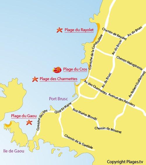 Adresse de la plage du cros corniche du cros 83140 six fours les