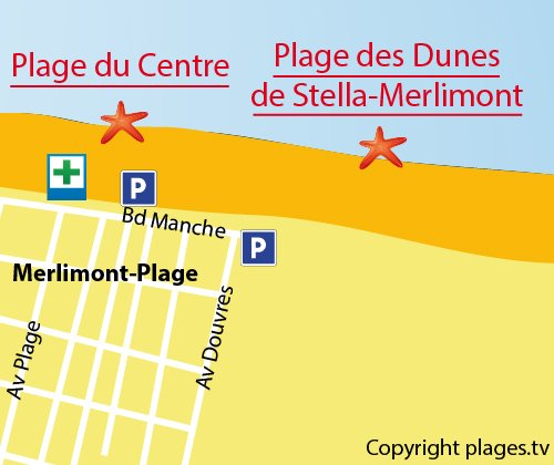 Map of Dunes of Stella-Merlimont Beach