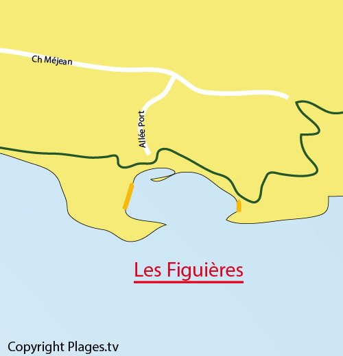 Map of Calanque of Figuières Méjean in Ensuès la Redonne