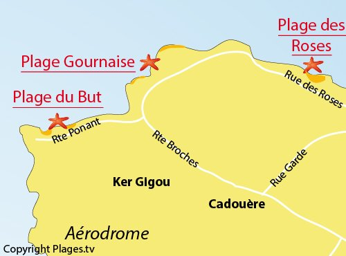 Map of Gournaise beach in Ile d'Yeu