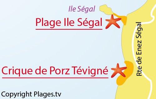 Carte de l'ile Ségal à Plouarzel