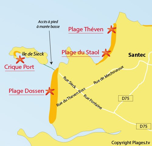 Map of Port Cove - Sieck Island in Santec
