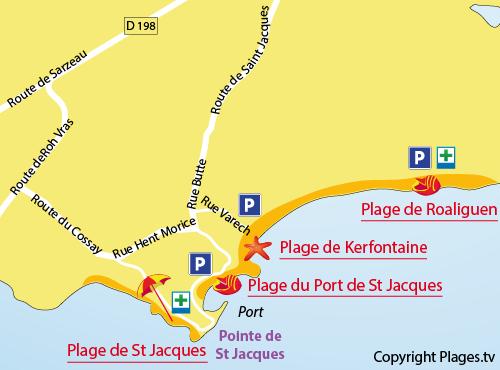 Plan de la plage de Kerfontaine de Sarzeau