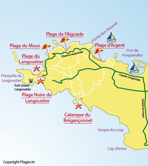 Plage du langoustier porquerolles 83 var paca - Port autonome du centre et de l ouest ...