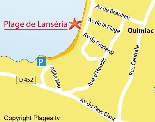Plan de la plage de Lanséria à Quimiac