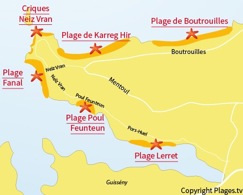 Carte Kerlouan Bretagne.Plage De Lerret Kerlouan 29 Finistere Bretagne Plages Tv