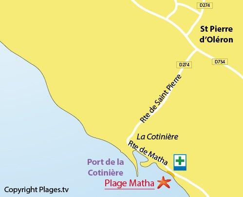 Plan de la plage de Matha sur Oléron