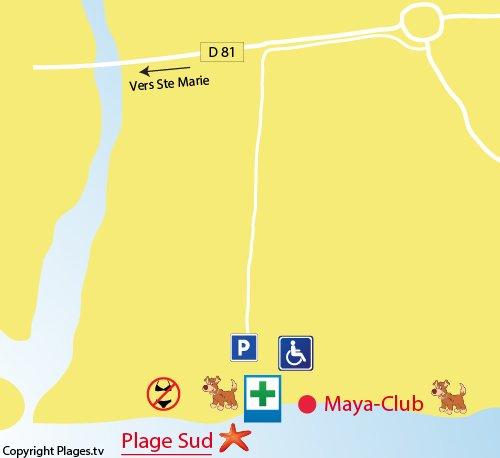 Accès à la plage privée Maya - Torreilles