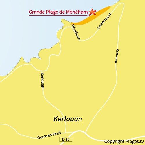 Carte Kerlouan Bretagne.Grande Plage De Meneham Kerlouan 29 Finistere Bretagne