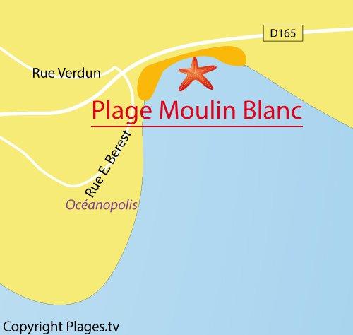 Carte du Moulin Blanc à Brest