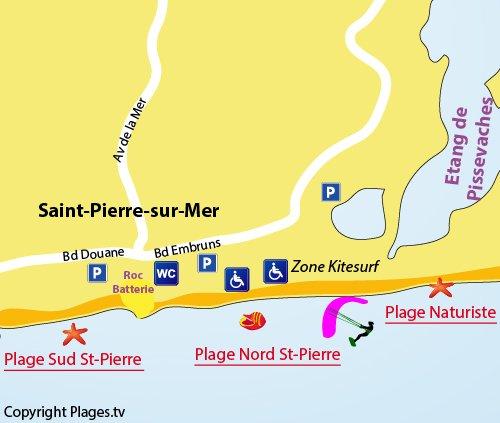 Carte de la plage Nord de St Pierre sur Mer