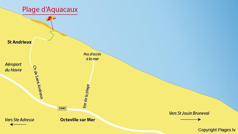 Carte des cartes à Octeville sur Mer (76)