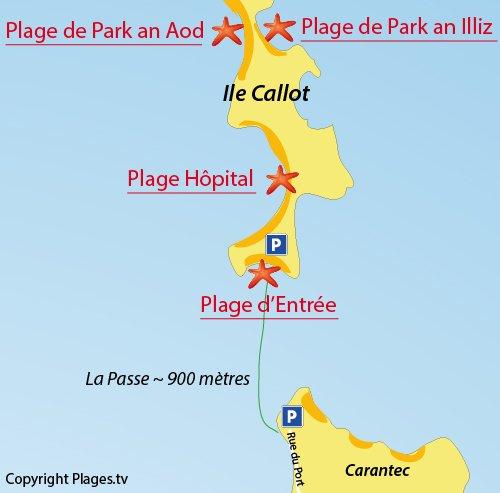 Carte Bretagne Carantec.Plage De Park An Aod Ile Callot Carantec 29 Finistere