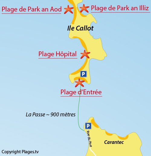 Map of Park an Illiz Beach - Callot island