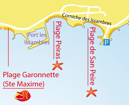 Map of Beach Peiras - Les Issambres - France