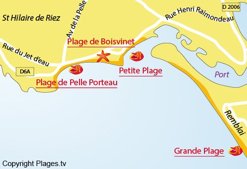 Plan de la crique de Pelle Porteau à St Gilles Croix de Vie