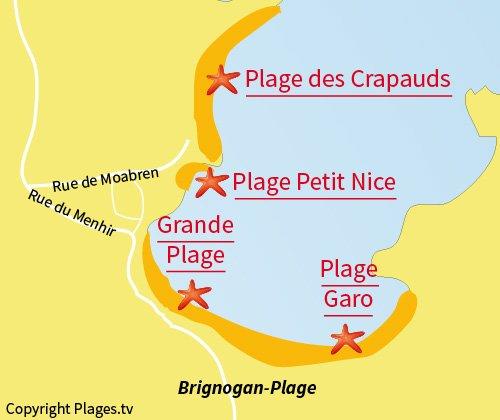 Mappa della Cala del Petit Nice - Brignogan