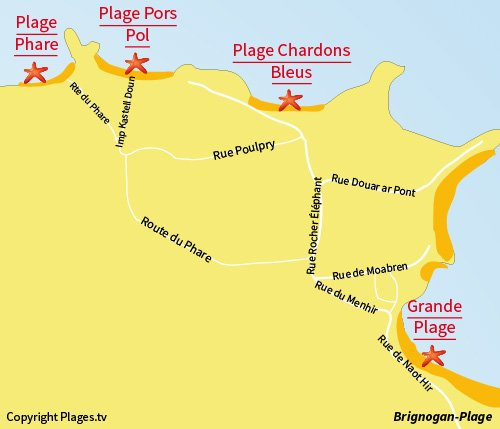 Map of Phare Beach in Brignogan