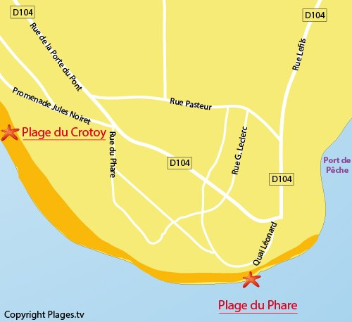 Map of Phare Beach in Le Crotoy in France