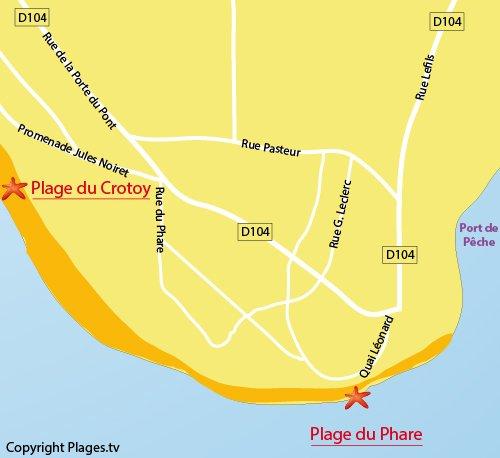 Carte de la plage du Phare du Crotoy (Picardie)