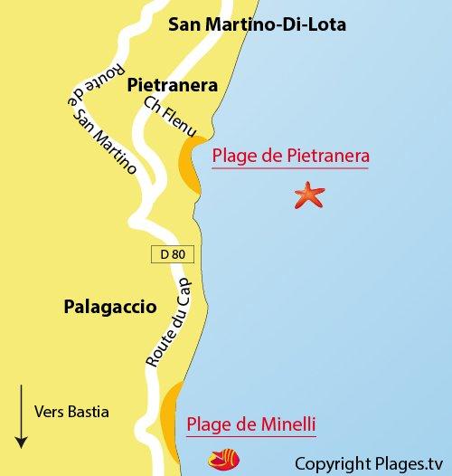 Pietranera Beach SanMartinoDiLota in Bastia HauteCorse