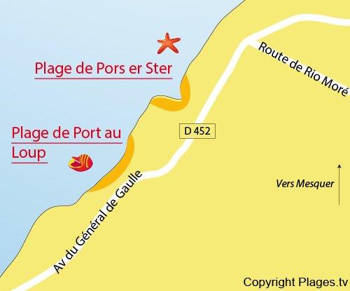 Map of Pors er Ster Beach in Piriac sur Mer