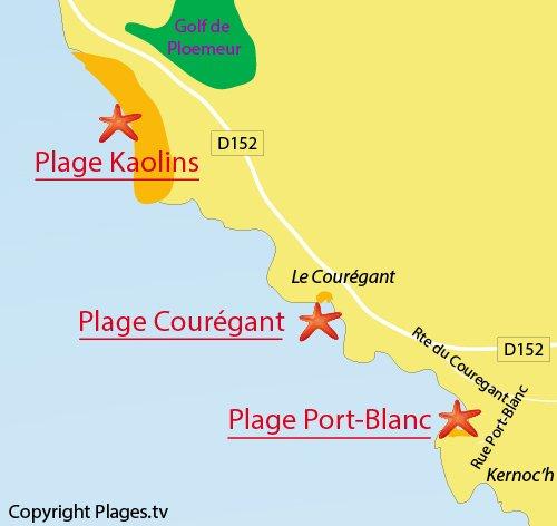 Carte de Port Blanc à Ploemeur