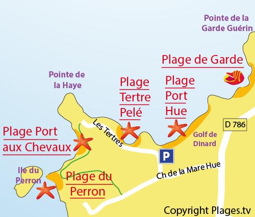 Plan de la plage du Port aux Chevaux à St Briac sur Mer