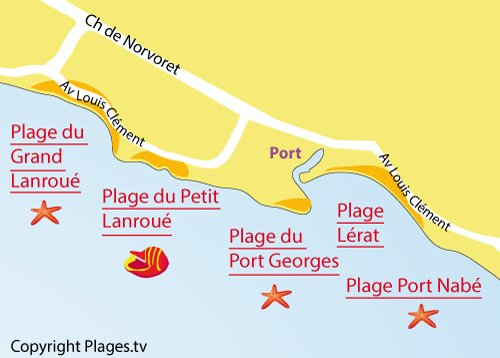 Map of Port Georges Beach in Piriac sur Mer