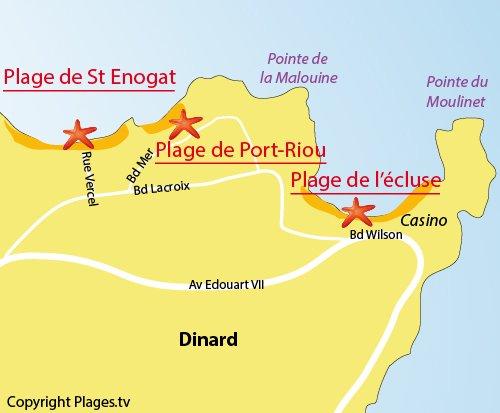 Map of the Port-Riou Beach in Dinard