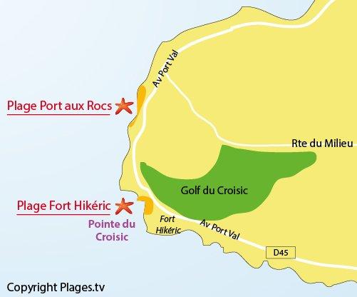 Mappa della Spiaggia Port aux Rocs - Le Croisic