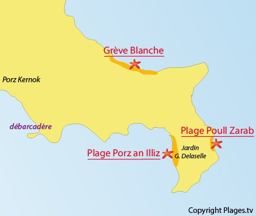 Map of Porz an Illiz Beach - Batz island