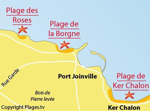 Carte de la plage des Roses - Ile d'Yeu
