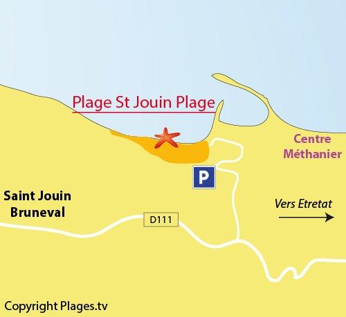 Plan de la plage de Saint Jouin Plage