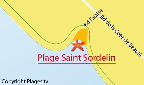 Carte de la plage de Saint Sordolin à Vaux sur Mer