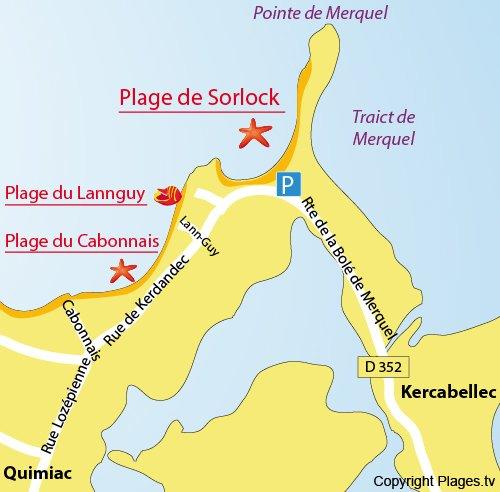 Map of Sorlock Beach in Quimiac