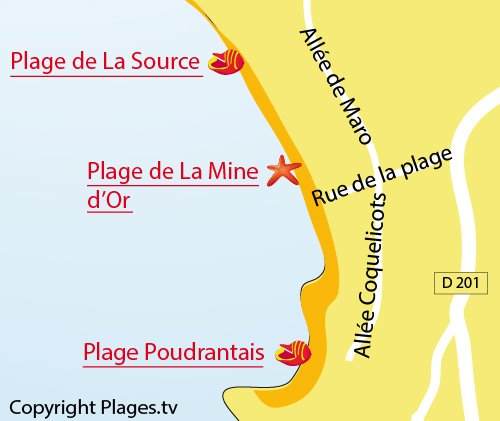 Map of La Source Beach - Pénestin