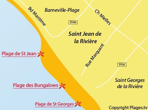 Carte de la plage de Saint Jean de la Rivière