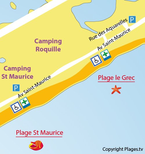 Description And Location Of The St Maurice Beach In Palavas Les Flots  (34250)