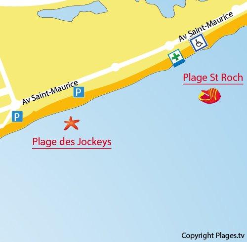 Saint Roch Beach in PalavaslesFlots Hrault France Plagestv