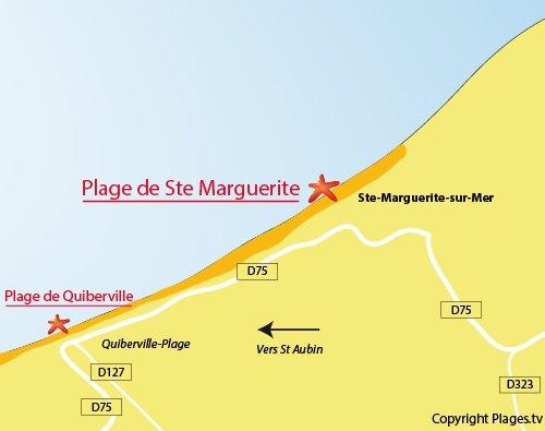 Map of Ste Marguerite beach