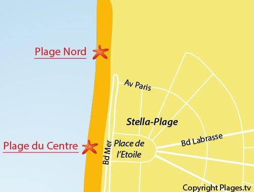 Map of North Beach in Stella
